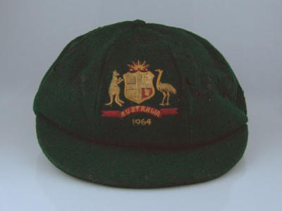 Australian Test cap, issued to Peter Burge, 1964