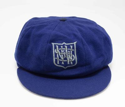"NSW Cricket Association cricket cap embroidered  ""NSWCA"" worn by Ron Briggs"