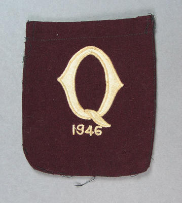 Blazer badge - Queensland team badge 1946