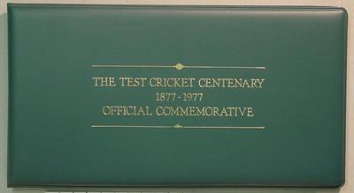 Commemorative pack: The Test Cricket Centenary 1877-1977