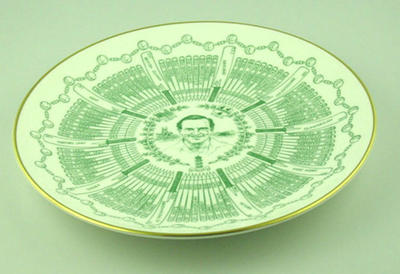 Royal Grafton 'Century of Centuries ' plate featuring T.W. Graveney O.B.E.