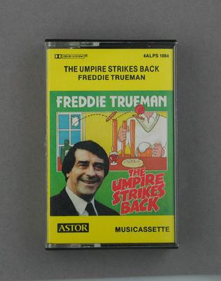 "Audio cassette recording of ""The Umpires Strike Back"" by Freddie Trueman"