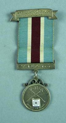 Medal  and clasp - V.R.A. & Affiliated Clubs - won by J.J. Callaghan 1934