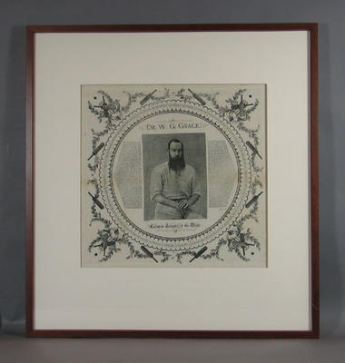 Handkerchief with image of  'Dr. W.G. Grace, Champion Cricketer of the World'