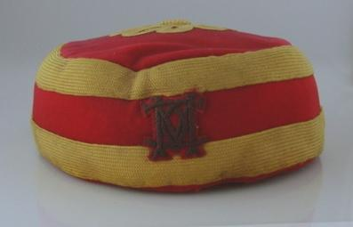 Marylebone Cricket Club pill-box  cricket cap with chin strap, c.1875