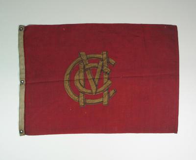 Marylebone Cricket Club boundary flag, c. 1864