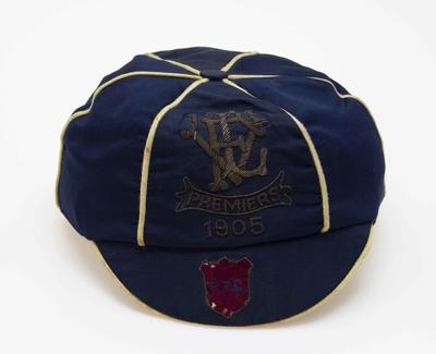 Fitzroy Football Club 1905 Premiers cap presented to R.W. Plaisted