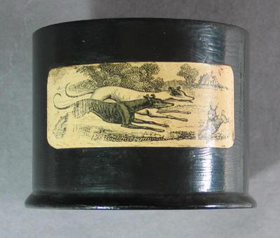 Lid for snuff box, cricket design