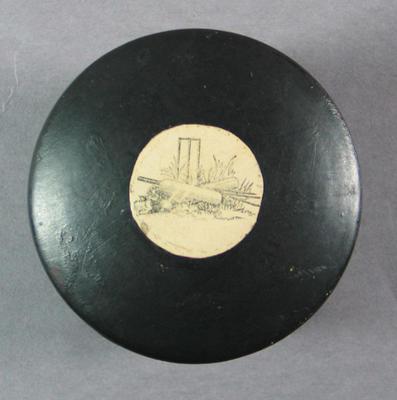 Snuff box, cricket design