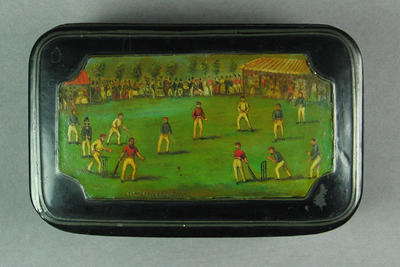 Snuff box, cricket design