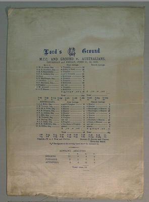 Scorecard:  M.C.C. and Ground v Australians, 11-12 June 1896, Lord's Ground