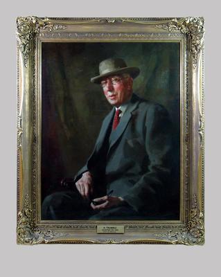 Portrait of  Hugh Trumble by A. E. Newbury c. 1938