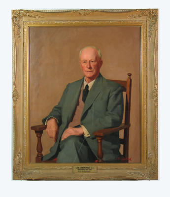 Portrait of  C. W. Simmonds by Rex Bramleigh, c.1965