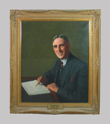 Portrait of V.S. Ransford by Rex Bramleigh  c. 1957