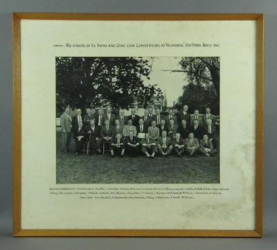 Photograph of Ex Swim & Gym Club Competitors Reunion, 1962