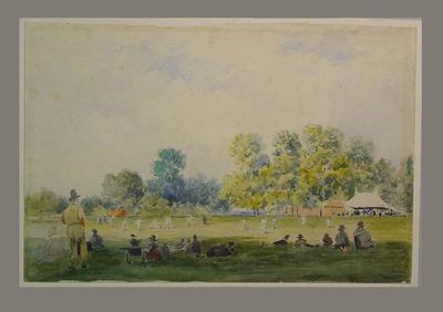 """Cricket at Cuckfield"" - artist William Scott"
