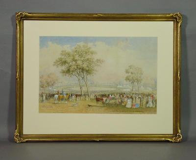 First International Cricket Match, Melbourne Cricket Ground 1862 by Henry Burn