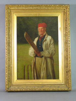"""A Brewer's Drayman as Cricketer"" - artist James Hayllar 1885"