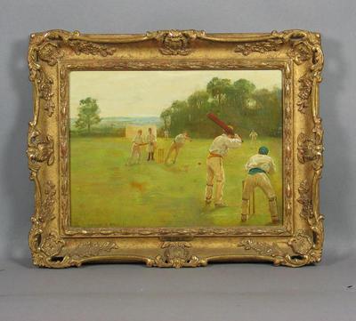 """Village Cricket Match"" 1884 - artist George Goodwin Kilburne"