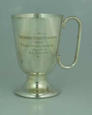 Trophy, Castlemaine Tennis Tournament 1935 B Grade Singles Handicap Runner Up