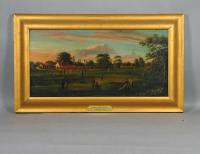 """Fulham Park School"" - artist T Rowe 1827"