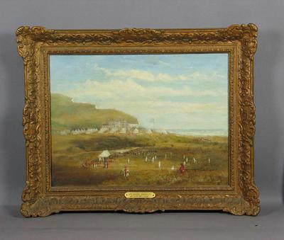 """The Sussex Regiment at Seaford, 1850"" - artist unknown"