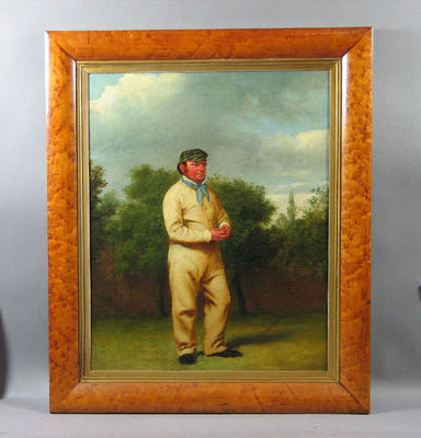 """""""Portrait of James Dean, The Well-Known Sussex Bowler"""", artist William Bromley"""