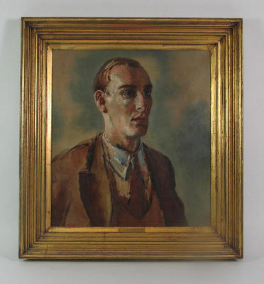 Portrait of English cricketer Douglas Jardine by H.M. Jones/H.M. James, c. 1932