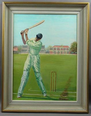 Oil painting, depicts Frank Edward Woolley; Artwork; Framed; M6566