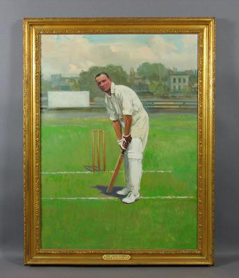 Portrait:   Sir Jack Hobbs - artist Leslie A. Wilcox R.I.