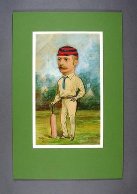 Cricketer  A E Stoddart - artist Tom Lee, 1888