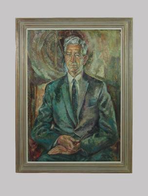 Portrait of Sir Albert Chadwick by artist Louis Kahan, 1964