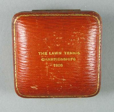 Brown leather medal case, 1928