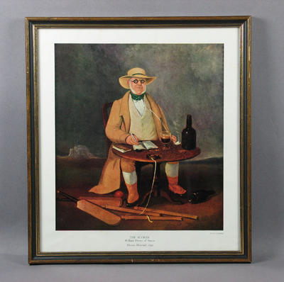 """Print of painting, """"The Scorer William Davies of Sussex"""" by Thomas Henwood, 1842; Artwork; M6600.2"""