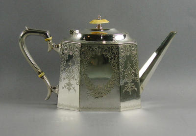 Tea pot - The Boyle & Scott Cup - 1894-95 won by Hawksburn C C Juniors; Domestic items; Trophies and awards; M6621.3