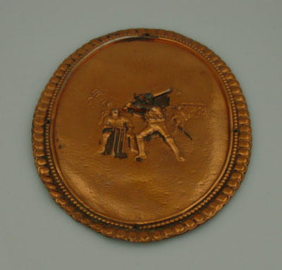 Plaque -  image of cricket match in progress