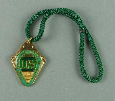 Lawn Tennis Association of Victoria membership medallion, 1981-82
