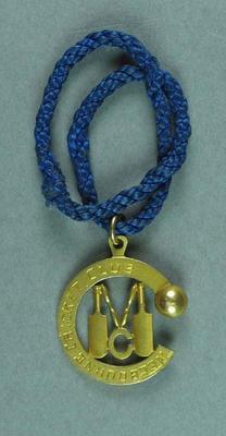 Melbourne Cricket Club Honorary Life Membership badge 1959 -  Mr. H. I. Ebeling