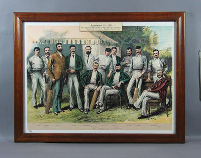 "Print - ""The Australian Cricketers"" 1882 - edition no. 2/850; Artwork; Framed; M6316"