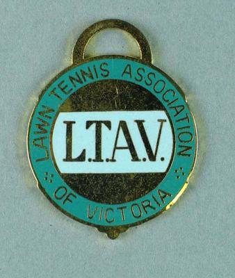 Lawn Tennis Association of Victoria membership medallion, 1979-80