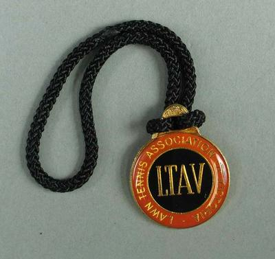Lawn Tennis Association of Victoria membership medallion, 1982-83