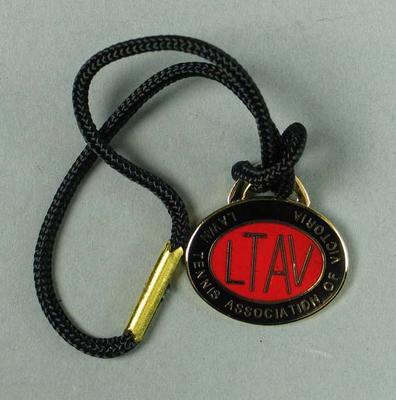 Lawn Tennis Association of Victoria membership medallion, 1984-85