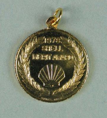 Medallion, 1978 Shell Merit Award