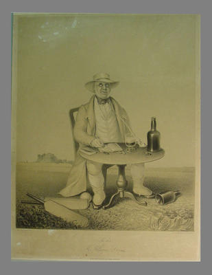 Lithograph - 'The late Mr. William Davies' - by Thomas Henwood printed by M. & N Hanhart; Artwork; M6415