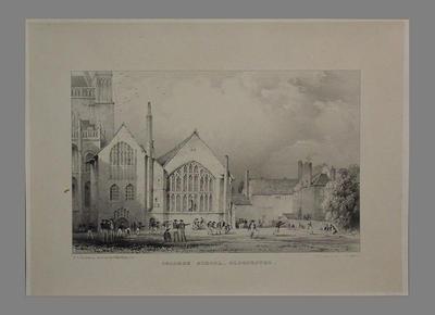 "Print, ""College School, Gloucester"" - circa 1850; Artwork; M6447"