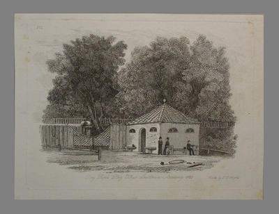 """Print, """"Day Pupils' Play House, Southtown Academy, 1820""""; Artwork; M6448"""