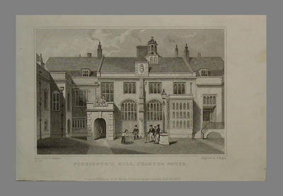 "Print, ""Pensioners Hall, Charterhouse"" - 1830; Artwork; M6450"