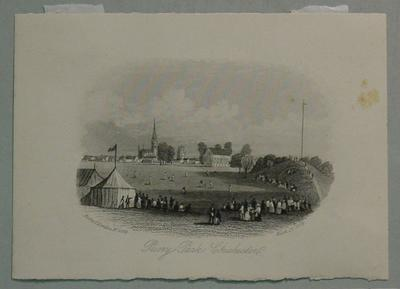 "Engraving: ""Priory Park Chichester"" by Rock & Co, London no. 2384, March 1854"