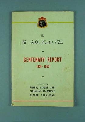 Annual report, St Kilda Cricket Club - season 1955/56