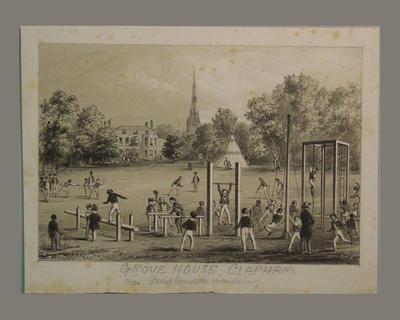 """""""Grove House Clapham near Friedlanders Academy"""" circa 1830; Artwork; M6485"""